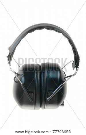 Hayward, CA - November 27, 2014: amplified hearing protection isolated on white