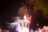 stock photo of guy fawks  - Colourful fireworks  - JPG