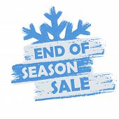 foto of seasonal  - end of season sale banner  - JPG