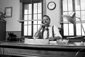 stock photo of 1950s style  - 1950s style office - JPG