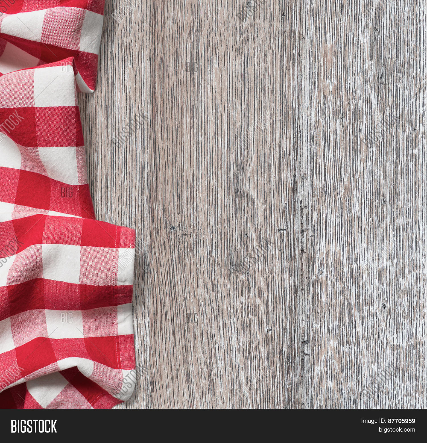 Rough Wood Kitchen Table Red Picnic Image & Photo | Bigstock