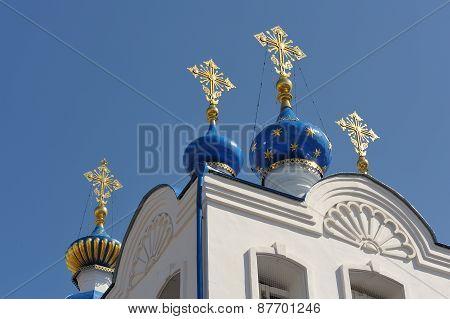 Domes Of Spaso-uspensky Monastery, Orel, Russia