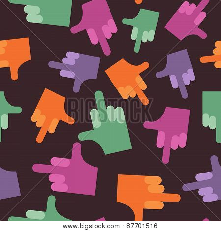 fuck seamless pattern. background hands. Vector illustration