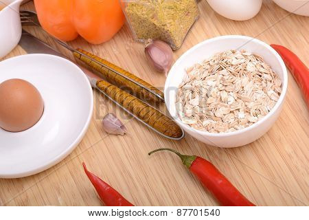 Bowl Of Corn Flakes And Red Pepper