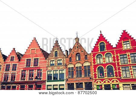 Isolated Bruges Old Buildings