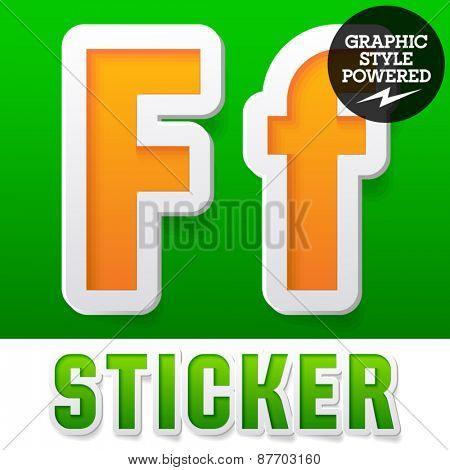 New fresh spring font. Letter F