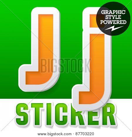 New fresh spring font. Letter J