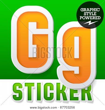 New fresh spring font. Letter G