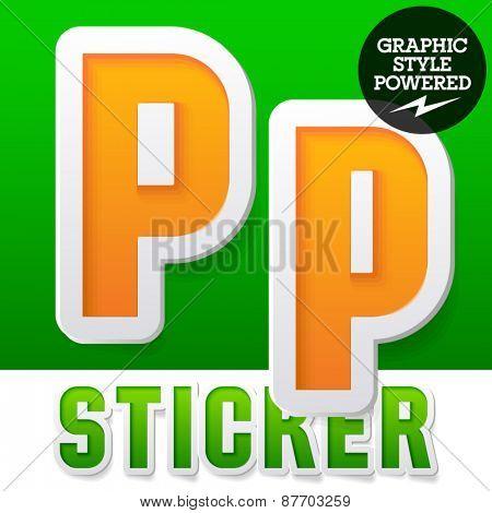 New fresh spring font. Letter P