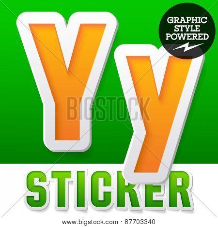 New fresh spring font. Letter Y