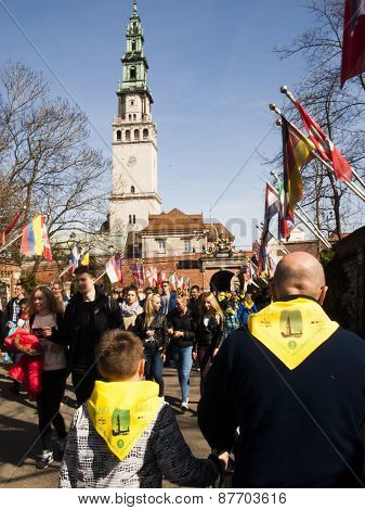 CZESTOCHOWA, POLAND 12 APRIL 2015: Jasna Gora is the most famous shrine to the Virgin Mary.