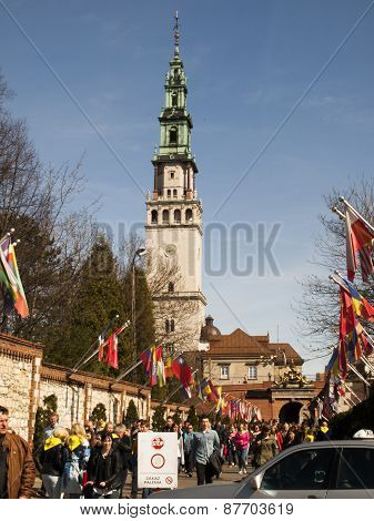 CZESTOCHOWA, POLAND 12 APRIL 2015: Jasna Gora is the most famous shrine to the Virgin Mary, Czestoch