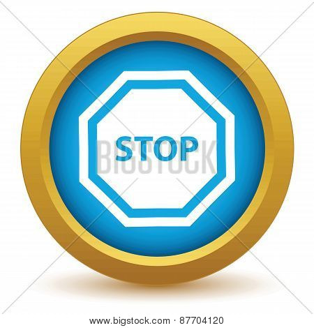 Gold stop icon