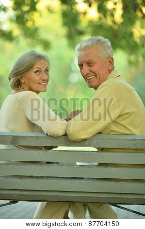 Amusing senior couple