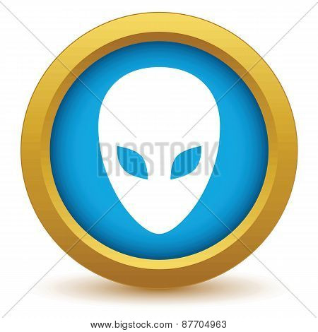 Gold extraterrestrial icon