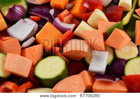 Chopped Vegetables Background
