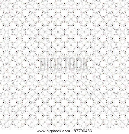 Dotted seamless pattern with circles and nodes. Repeating modern stylish geometric background. Simpl