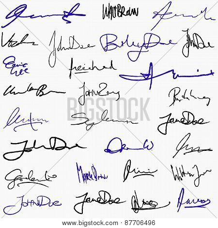 Collection Of Signatures
