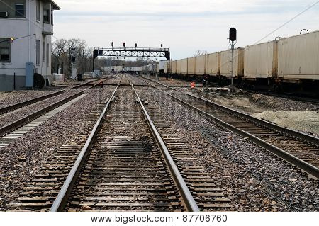 Railroad Tracks in Joliet, Illinois