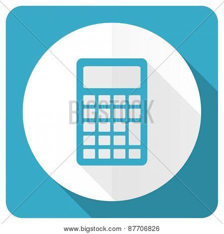 calculator blue flat icon