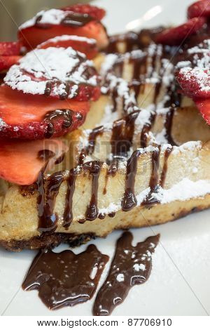 Strawberry & Chocolate Waffle