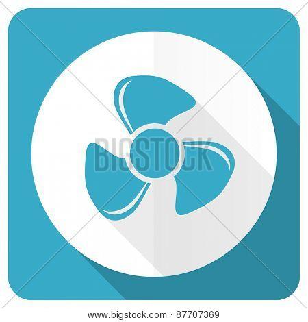 fan blue flat icon