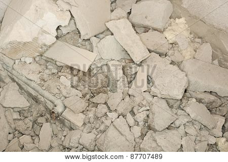 Texture of stone rubble with a large number of stones.