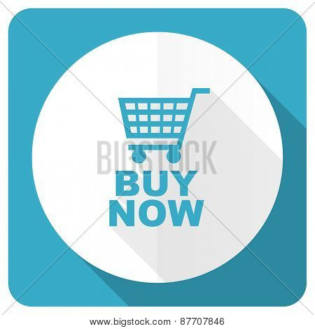 buy now blue flat icon