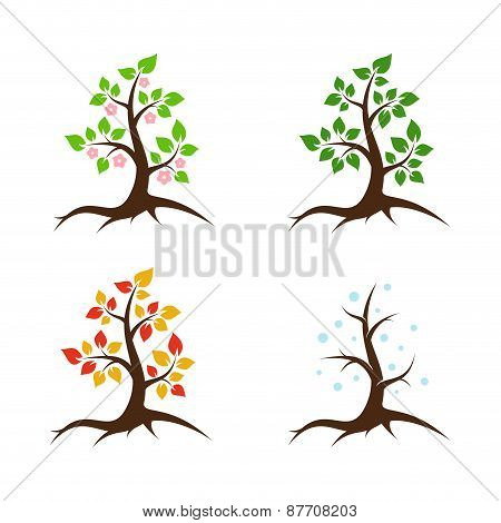 Seasons vector illustration