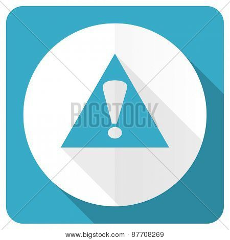 exclamation sign blue flat icon warning sign alert symbol