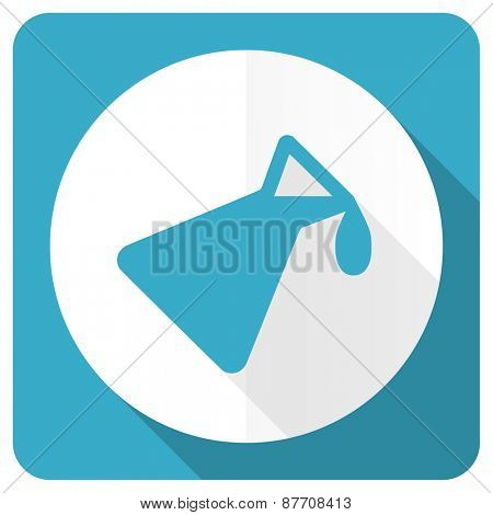 chemistry blue flat icon