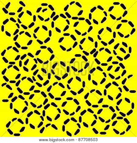 black and yellow pattern resembling a jaguar spots