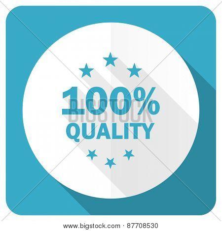 quality blue flat icon