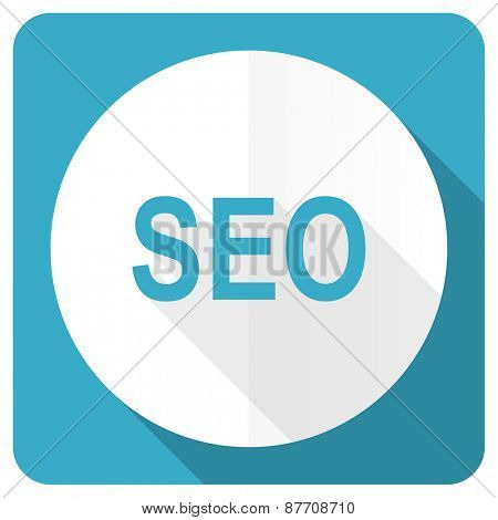 seo blue flat icon