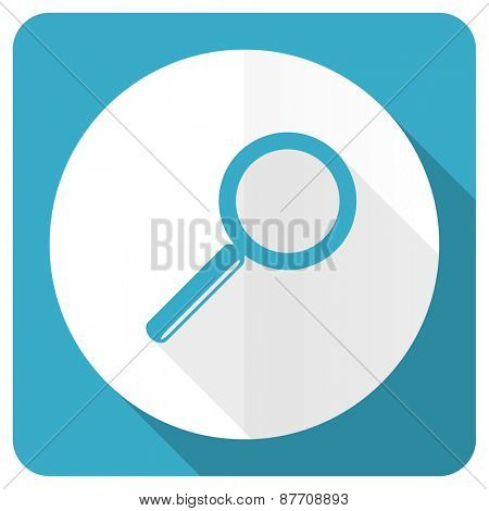 search blue flat icon