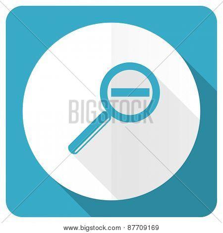 lens blue flat icon