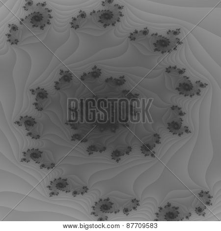 Monochromatic gray vortex fractal background