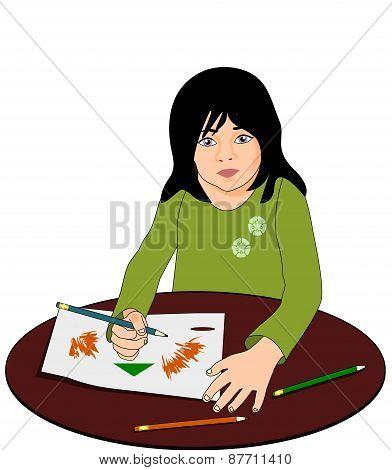 Girl who sketches.