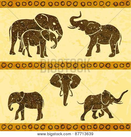 African elephants set