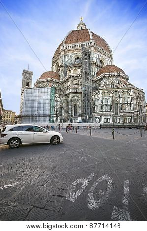 Cathedral Of Saint Mary Of The Flower In Florence In Italy In Summertime