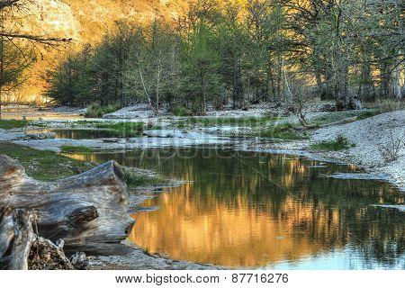 Evening Stroll on a Texas Riverbank