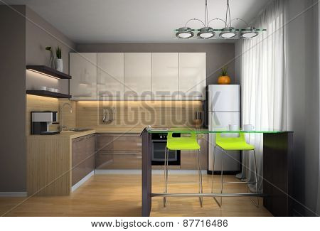 Part of the modern kitchen illustration