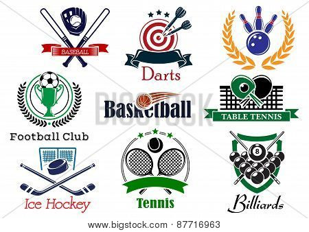 Competition sports emblems and symbols