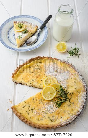 Lemon Tart With Rosemary