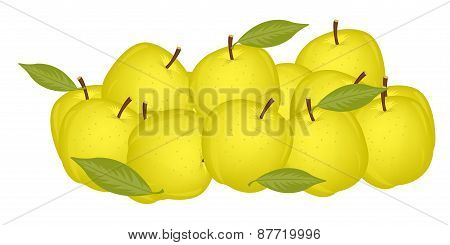 Small circle yellow apple
