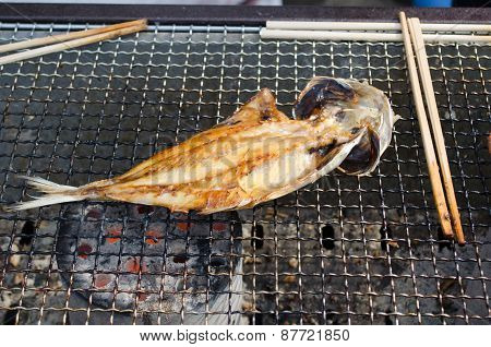 Fish Grilled On Charcoal, Japan Style