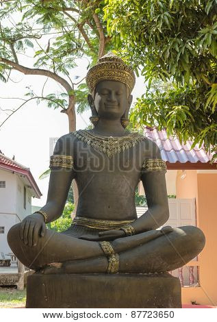 statue for Khmer deva sitting