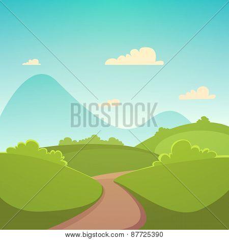 Summer Cartoon Landscape