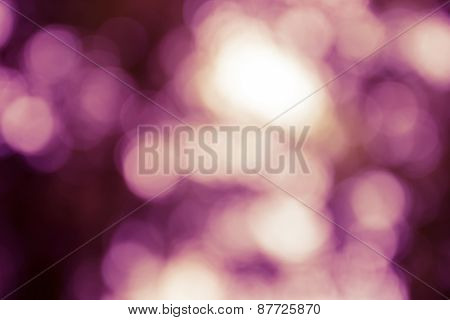 Natural Outdoors Bokeh Light Background, Yellow Tone In Hilight And Purple Tone In Shadow