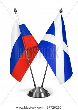 Russia and Scotland - Miniature Flags.